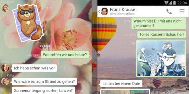 Chatten mit Android