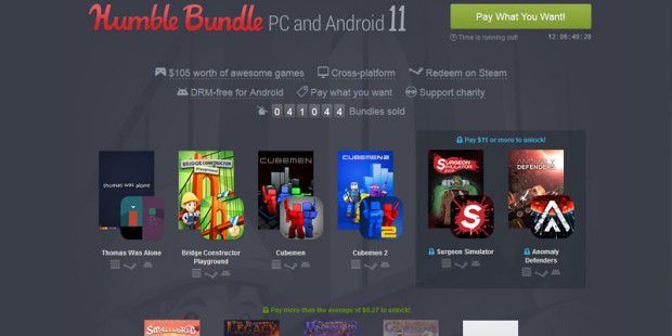 Humble Bundle PC and Android 11