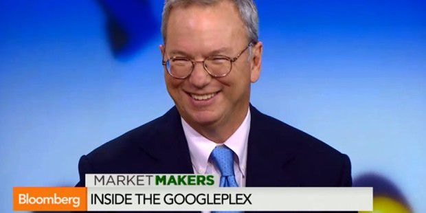 Googles Eric Schmidt im Interview mit Bloomberg