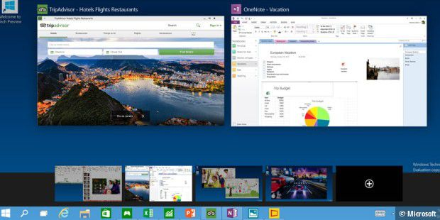 Windows 10: Virtuelle Desktops in Aktion