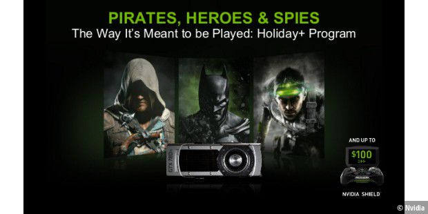 "Nvidia-Spiele-Bundle ""Pirates, Heroes & Spies""."