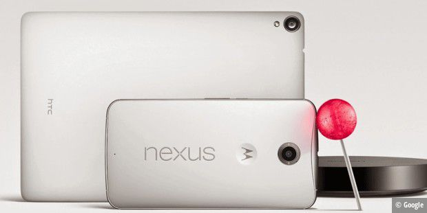 Google hat Android 5.0 Lollipop, Nexus 6, Nexus 9 und Nexus Player vorgestellt