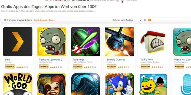 100 Euro gespart: Amazon verschenkt Android-Apps