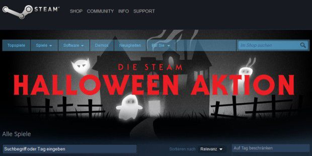 Steam lockt Halloween-Freunde mit Rabatt-Aktion
