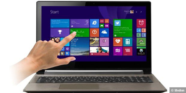 Touchscreen-Notebook mit Full-HD: Medion Akoya S6415T im Test