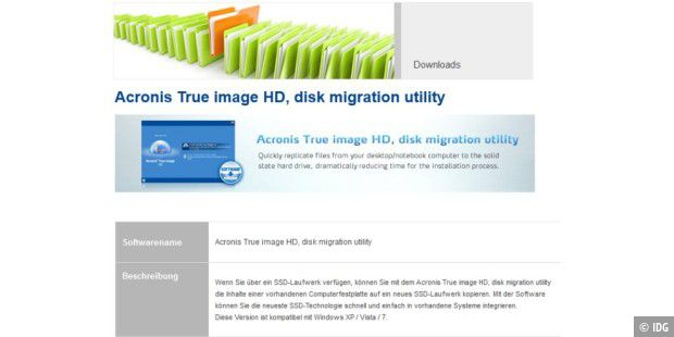 Gratis-Download: Acronis True Image HD