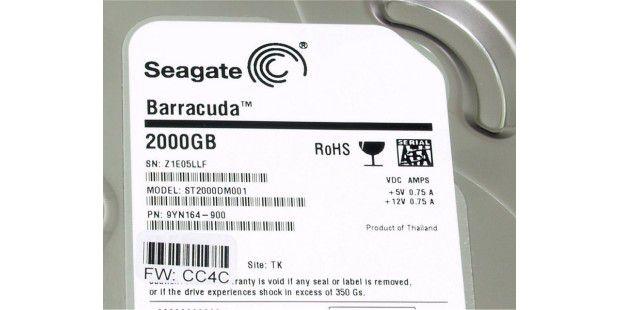 Sauschnell und supergünstig: Seagate Barracuda ST2000DM001mit 2000 GB