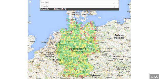 Lte Netzabdeckung Karte.So Schnell Surft Deutschland Mobil Pc Welt