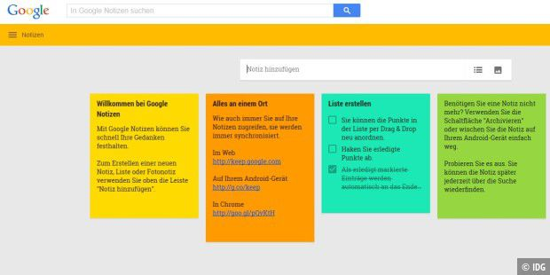 Google Notizen (Keep)
