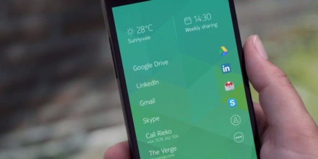 Nokia Z Launcher Beta in Aktion
