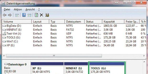 Wenn Sie die Linux-Partition löschen, wird daraus freier Speicherplatz, den Sie für eine andere Partition auf derselben Festplatte nutzen können.