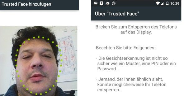 Trusted Face: Neue Sicherheitsfunktion in Android 5.0