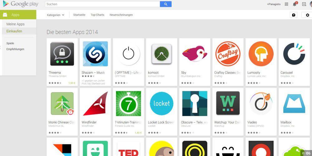 google das sind die besten android apps 2014 pc welt. Black Bedroom Furniture Sets. Home Design Ideas