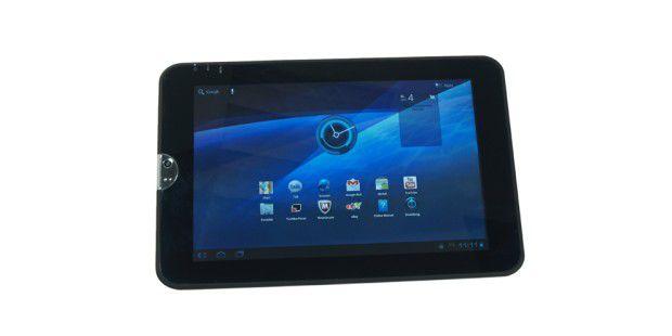 Günstige Tablets wie das Toshiba AT100 bieten oft mehrAnschlüsse als teure Top-Geräte