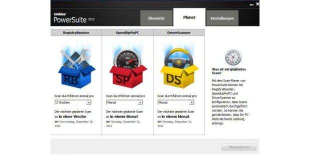 In Powersuite 2012 kann der Nutzer einstellen, wie oft die Tuning-Software den Rechner optimieren soll