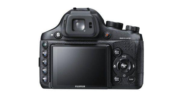Die Rückseite der Fujifilm X-S1