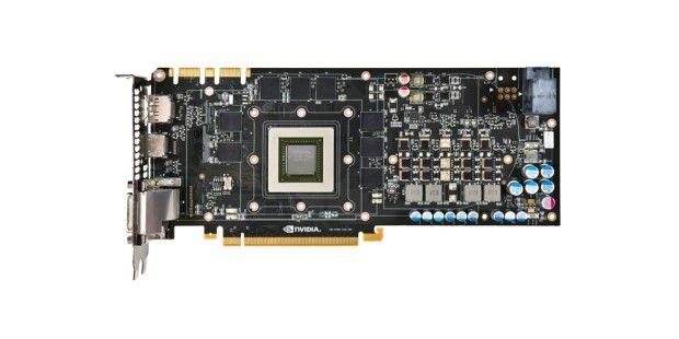 Die Kepler-GPU im Inneren der Nvidia Geforce GTX680.