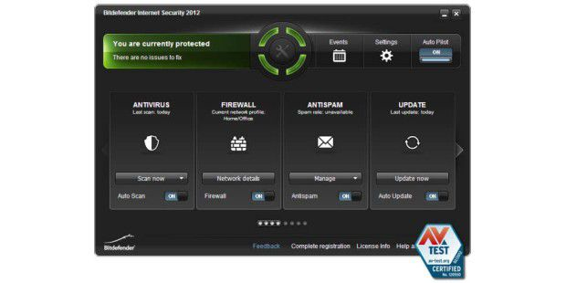 Bitdefender Internet Security 2012 erreicht die höchste Punktzahl