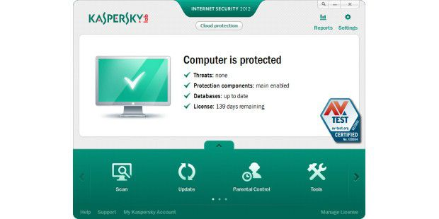 Kaspersky Internet Security 2012 erzielt 16,5