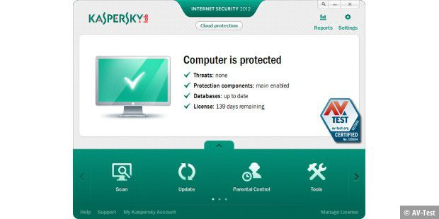 Kaspersky Internet Security 2012 erzielt 16,5 Punkte