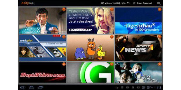 Die App Dailyme bietet TV-Sendungen fürsAldi-Tablet