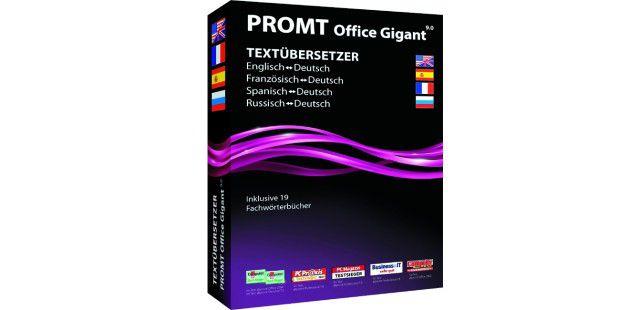 """Office 9.0 von Promt gibt es für verschiedene Sprachenjeweils für 99,99 Euro auf CD und für 89 Euro als Download. Die""""Gigant Plus""""-Version versteht sieben Sprachen und kostet 179 Euroauf CD. Die Download-Variante ist 30 Euro billiger."""