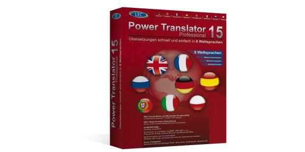 """Der """"Power Translator Professional"""" von LEC schneidet imTest am schlechtesten ab, kostet aber 149 Euro (Box oder Download).Die beworbenen 8 Sprachen sind eigentlich eine Mogelpackung, dennlediglich englisch und französisch werden direkt übersetzt, alleanderen Sprachen nehmen den Umweg über Englisch."""