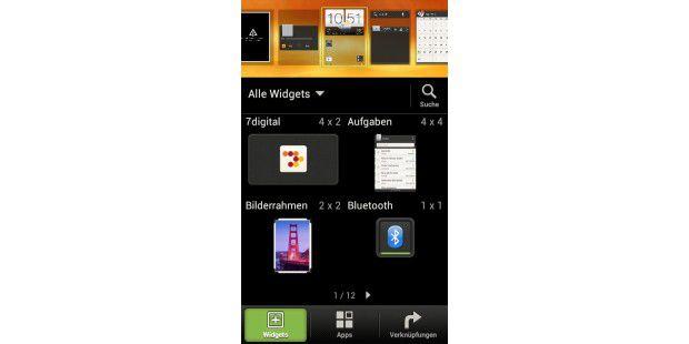 HTC One V: Mit Android 4.0 haben Sie vielePersonalisierungsmöglichkeiten