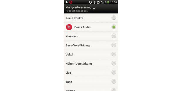 HTC One V mit der Klangoptimierung Beats Audio