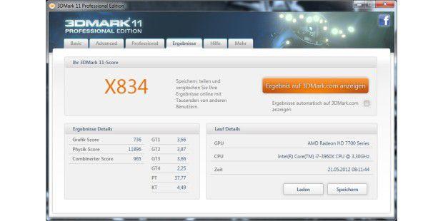 Klägliche Punktzahl unter DirectX 11.