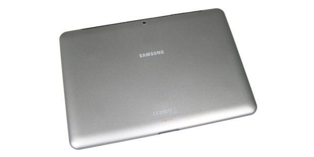 Samsung Galaxy Tab 2 10.1: Rückseite desKunststoffgehäuses