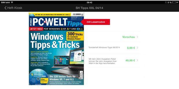 Lesen Sie dieses Windows-Sonderheft der PC-WELT in der neuen Magazin-App für Android, iOS und Windows.