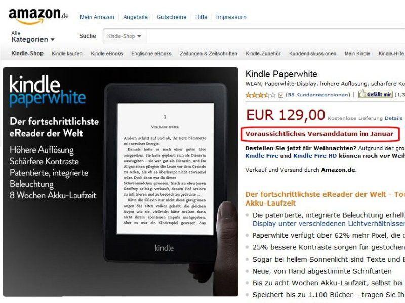 Amazon Kindle Paperwhite Und Thalia HD Frontlight Im Test