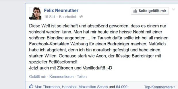 Facebook-Posting von Felix Neureuther