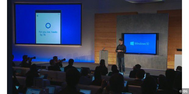 Windows 10 mit Cortana an Bord