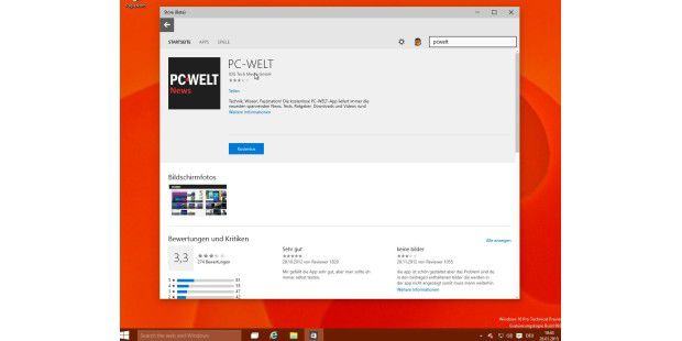Windows 10 TP Build 9926: Microsoft Store App (Beta)