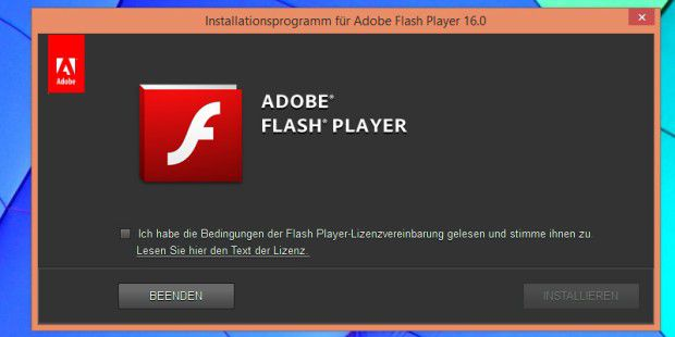 Adobe Flash Player 16.0.0.305 hier zum Download