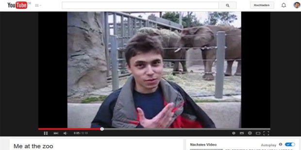 Me at the zoo - war das allererste Youtube-Video