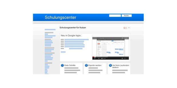 Google Apps: Schulungs-Center