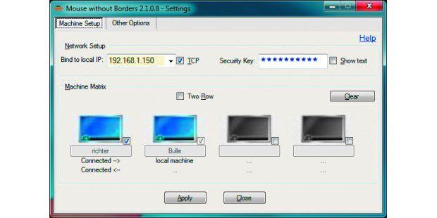Keine Fernsteuerung, sondern ein Switch per Software:Mouse without Borders überträgt keine Bildschirminhalte, sondernnur Tastatureingaben und Mausbewegungen.