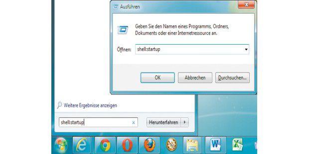 """Die """"shell:""""-Abkürzungen geben Sie in das Suchfeld desStartmenüs oder das Dialogfenster """"Ausführen"""" ein, um ohne UmwegWindows-Ordner im Explorer zu öffnen."""