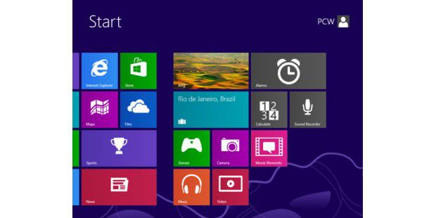 Windows 8.1 (Windows Blue) - der Start-Kachelbildschirm