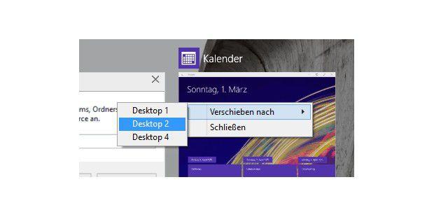 Windows 10 virtuelle desktops mit task view pc welt for Fenster verschieben