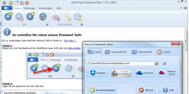 Gratis Testversion: ArchiCrypt Passwort-Safe