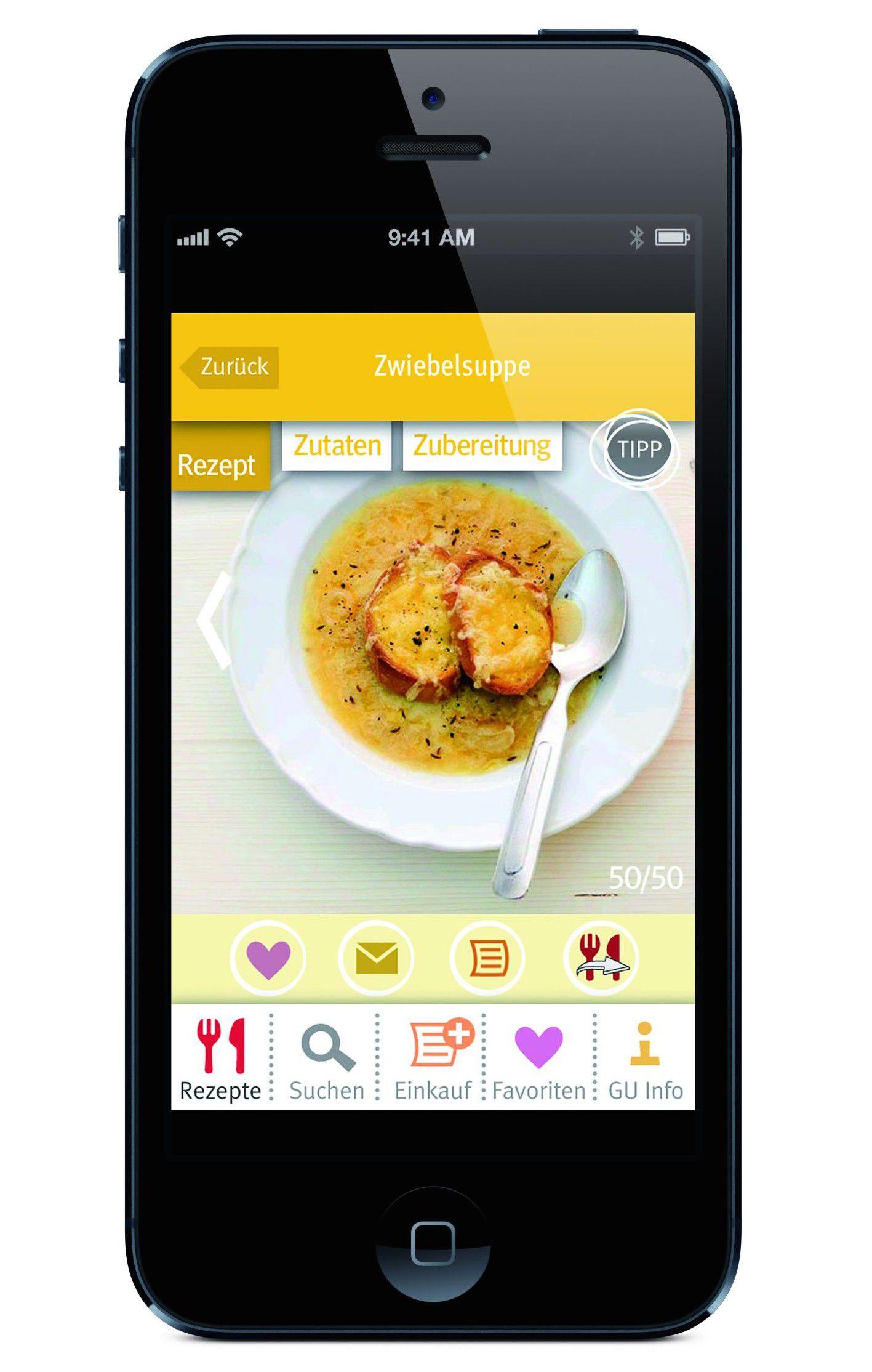 Vergrößern Die App Zu Der Küchenwaage Von Beurer Zeigt Rezepte.