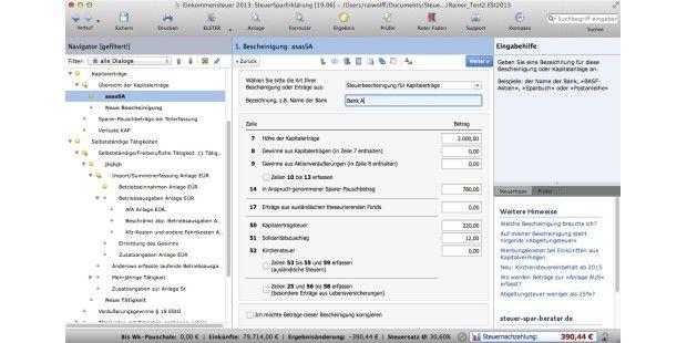 offline software zur steuererkl rung am mac im test macwelt. Black Bedroom Furniture Sets. Home Design Ideas
