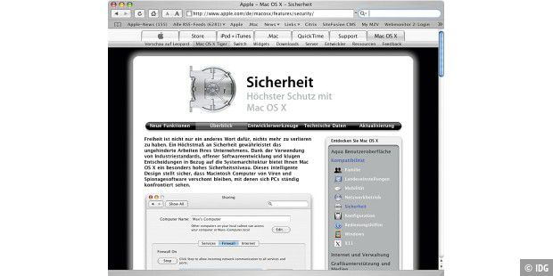 sicherheit apple