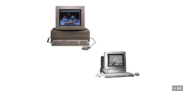 Macintosh IIfx (links) und Mac LC