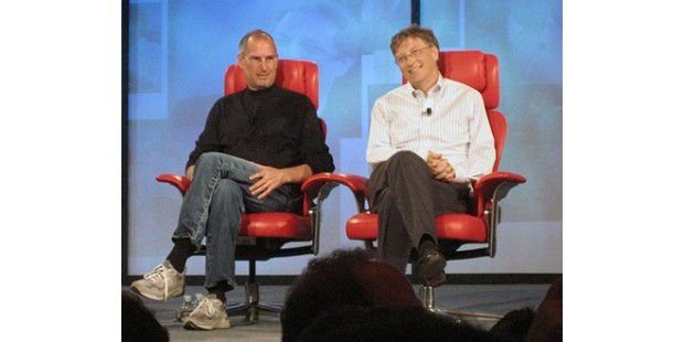 Steve Jobs und Bill Gates auf D: All Things Digital