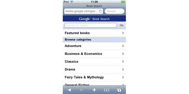 Google Books iPhone